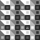 A Pattern of Houses with Cats
